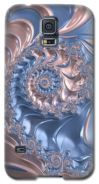 Abstract Fractal Art Rose Quartz And Serenity  Galaxy S5 Case