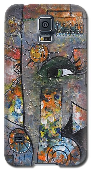 Galaxy S5 Case featuring the painting Abstract Ganesha  by Prerna Poojara