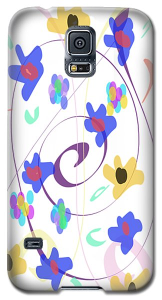 Abstract Garden Nr 7 Naif Style Galaxy S5 Case