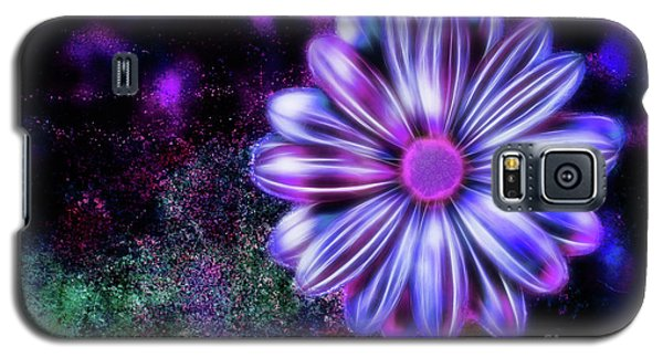 Abstract Glowing Purple And Blue Flower Galaxy S5 Case