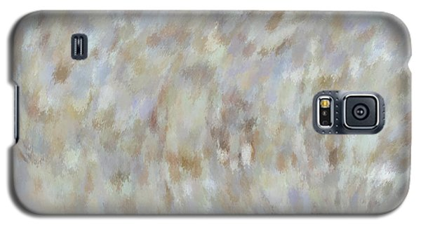 Galaxy S5 Case featuring the mixed media Abstract Gold Cream Beige 6 by Clare Bambers