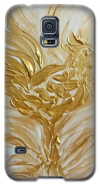 Abstract Golden Rooster Galaxy S5 Case