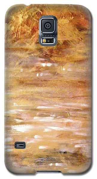 Abstract Golden Sunrise Beach  Galaxy S5 Case