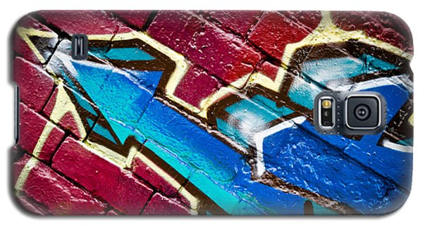 Galaxy S5 Case featuring the painting Abstract Graffiti Arrow by Yurix Sardinelly