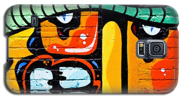 Galaxy S5 Case featuring the painting Abstract Graffiti Face by Yurix Sardinelly