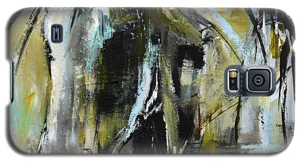 Galaxy S5 Case featuring the painting Abstract Green Horse by Cher Devereaux