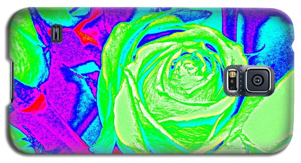 Abstract Green Roses Galaxy S5 Case