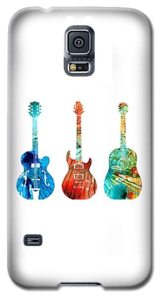 Music Galaxy S5 Case - Abstract Guitars By Sharon Cummings by Sharon Cummings