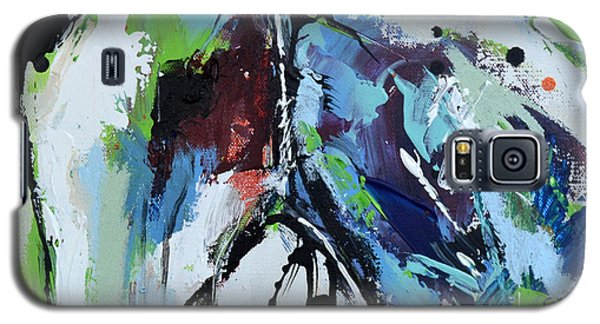Galaxy S5 Case featuring the painting Abstract Horse 18 by Cher Devereaux
