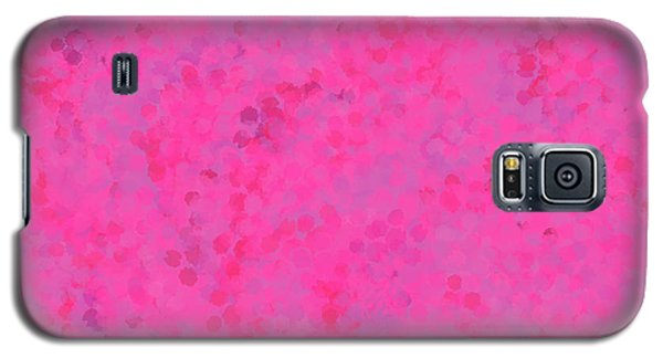Galaxy S5 Case featuring the mixed media Abstract Hot Pink And Lilac 4 by Clare Bambers