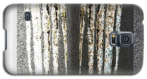 Galaxy S5 Case featuring the digital art Abstract Icicles by Will Borden