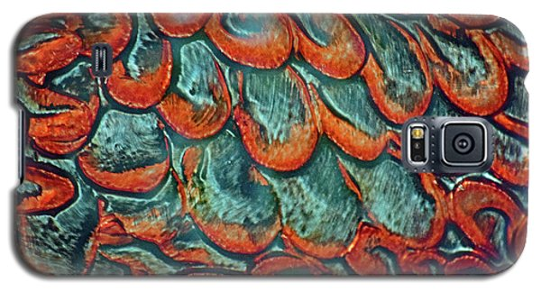 Abstract In Copper And Blue No. 7-1 Galaxy S5 Case