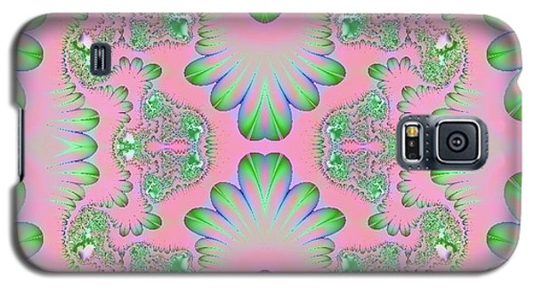 Galaxy S5 Case featuring the digital art Abstract In Pastels by Linda Phelps