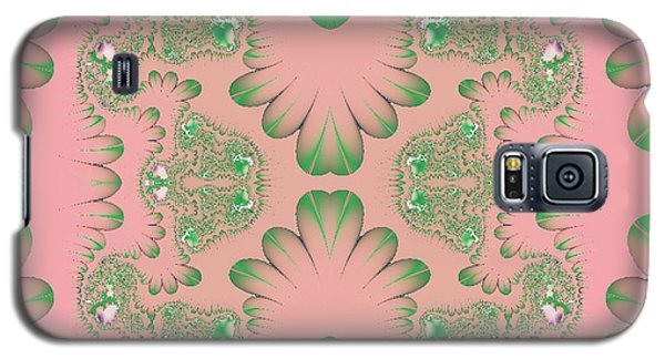 Galaxy S5 Case featuring the digital art Abstract In Pink And Green by Linda Phelps
