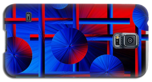 Abstract In Red/blue Galaxy S5 Case by Trena Mara