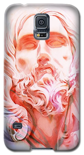 Galaxy S5 Case featuring the painting Abstract Jesus 1 by J- J- Espinoza