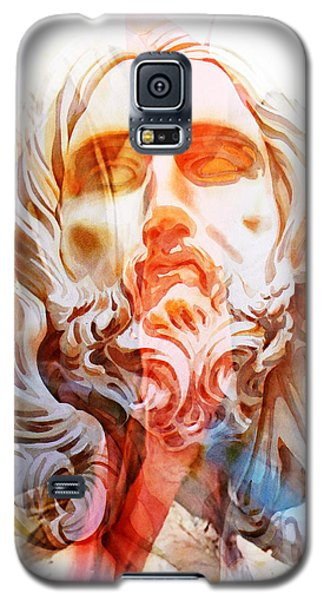 Galaxy S5 Case featuring the painting Abstract Jesus 2 by J- J- Espinoza