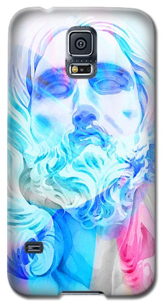 Galaxy S5 Case featuring the painting Abstract Jesus 3 by J- J- Espinoza