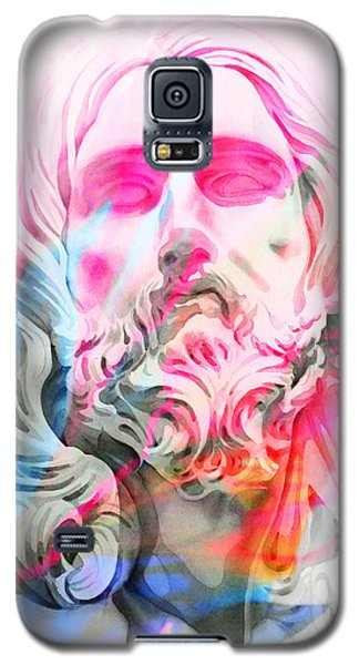 Galaxy S5 Case featuring the painting Abstract Jesus 4 by J- J- Espinoza