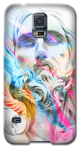 Galaxy S5 Case featuring the painting Abstract Jesus 5 by J- J- Espinoza