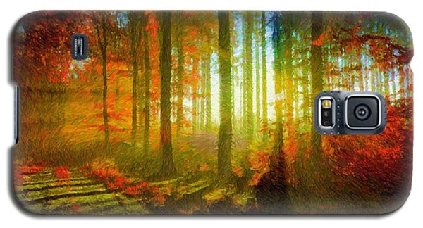 Abstract Landscape 0745 Galaxy S5 Case
