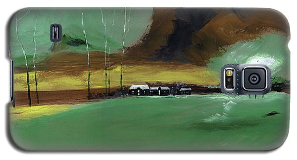 Galaxy S5 Case featuring the painting Abstract Landscape by Anil Nene