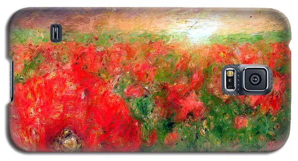 Abstract Landscape Of Red Poppies Galaxy S5 Case