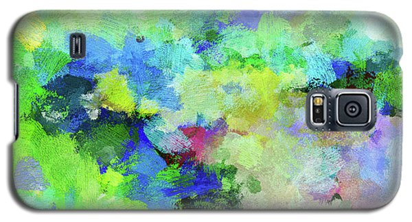 Galaxy S5 Case featuring the painting Abstract Landscape Painting by Ayse Deniz