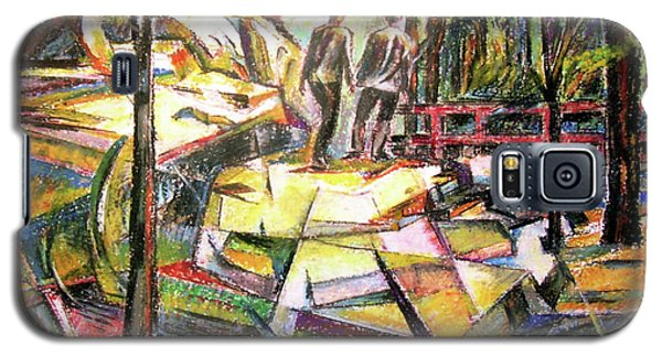Abstract Landscape With People Galaxy S5 Case