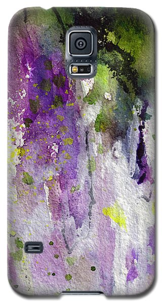 Abstract Lavender Cascades Galaxy S5 Case by Ginette Callaway