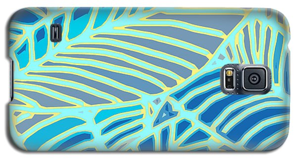 Abstract Leaves Blue And Aqua Galaxy S5 Case