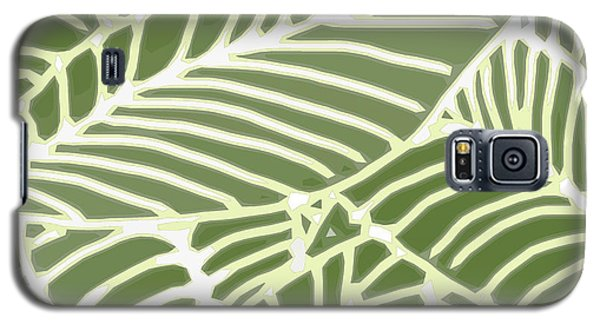 Abstract Leaves Fern Green Galaxy S5 Case