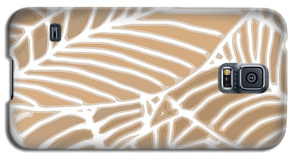 Abstract Leaves Iced Coffee Cutout Galaxy S5 Case