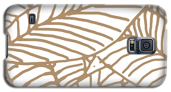 Abstract Leaves Iced Coffee Galaxy S5 Case