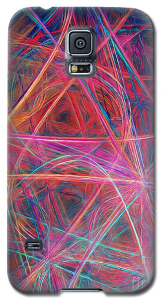 Galaxy S5 Case featuring the digital art Abstract Light Show by Andee Design