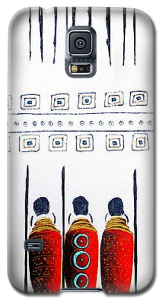 Abstract Masai Warriors Galaxy S5 Case