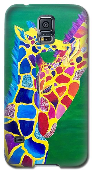 Abstract Mehndi Giraffe Mom And Baby Galaxy S5 Case