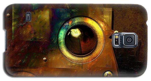 Galaxy S5 Case featuring the digital art Abstract Metal Plates by Alexa Szlavics
