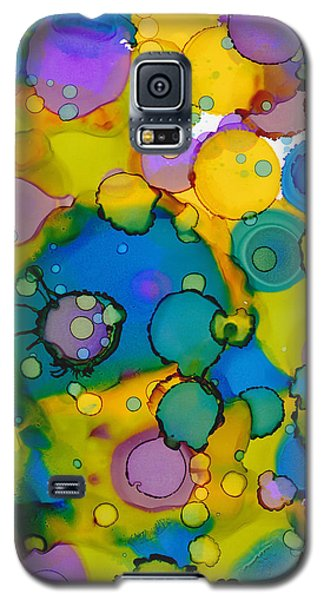 Galaxy S5 Case featuring the painting Abstract Microscope Party by Nikki Marie Smith