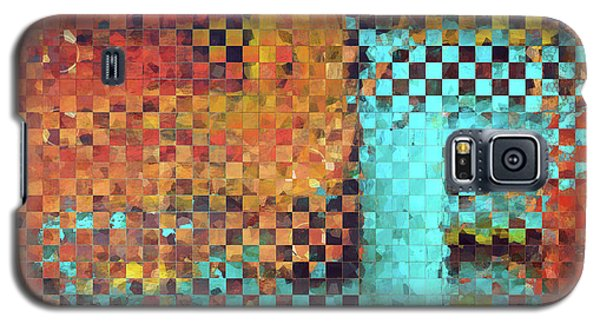 Abstract Modern Art - Pieces 1 - Sharon Cummings Galaxy S5 Case by Sharon Cummings