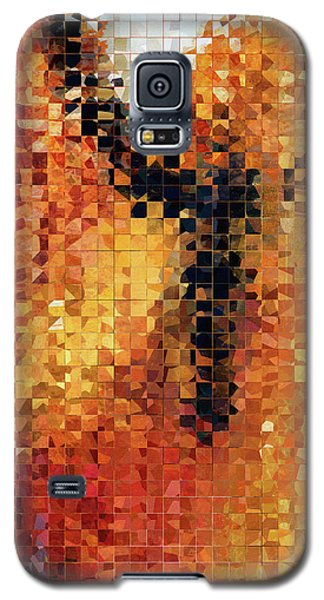 Abstract Modern Art - Pieces 8 - Sharon Cummings Galaxy S5 Case by Sharon Cummings