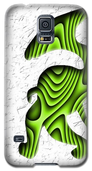 Abstract Monster Cut-out Series - Green Stroll Galaxy S5 Case