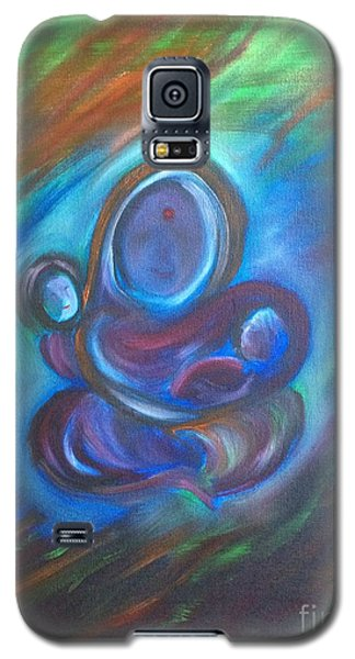 Galaxy S5 Case featuring the painting Abstract Mother by Brindha Naveen