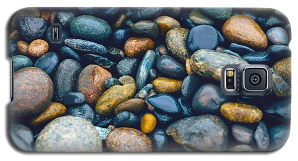 Abstract Nature Tropical Beach Pebbles 923 Blue Galaxy S5 Case