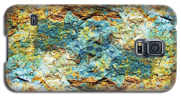 Abstract Nature Tropical Beach Rock Blue Yellow And Orange Macro Photo 472 Galaxy S5 Case