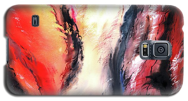 Galaxy S5 Case featuring the painting Abstract New by Anil Nene