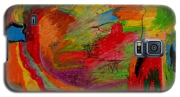 Galaxy S5 Case featuring the drawing Abstract No. 3 Inner Landscape by Maria  Disley