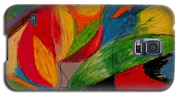 Galaxy S5 Case featuring the drawing Abstract No. 5 Springtime by Maria  Disley