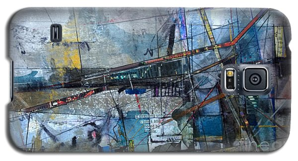 Galaxy S5 Case featuring the painting Abstract Nyc #2 by Robert Anderson