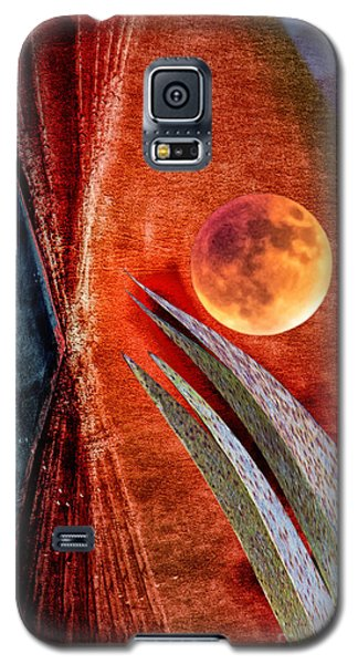 Abstract On Moon Galaxy S5 Case